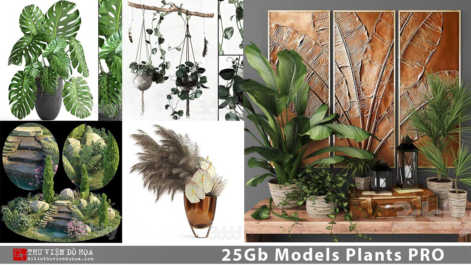 [ 3dsmax ] 25Gb Models Plants PRO share by DitimStudio