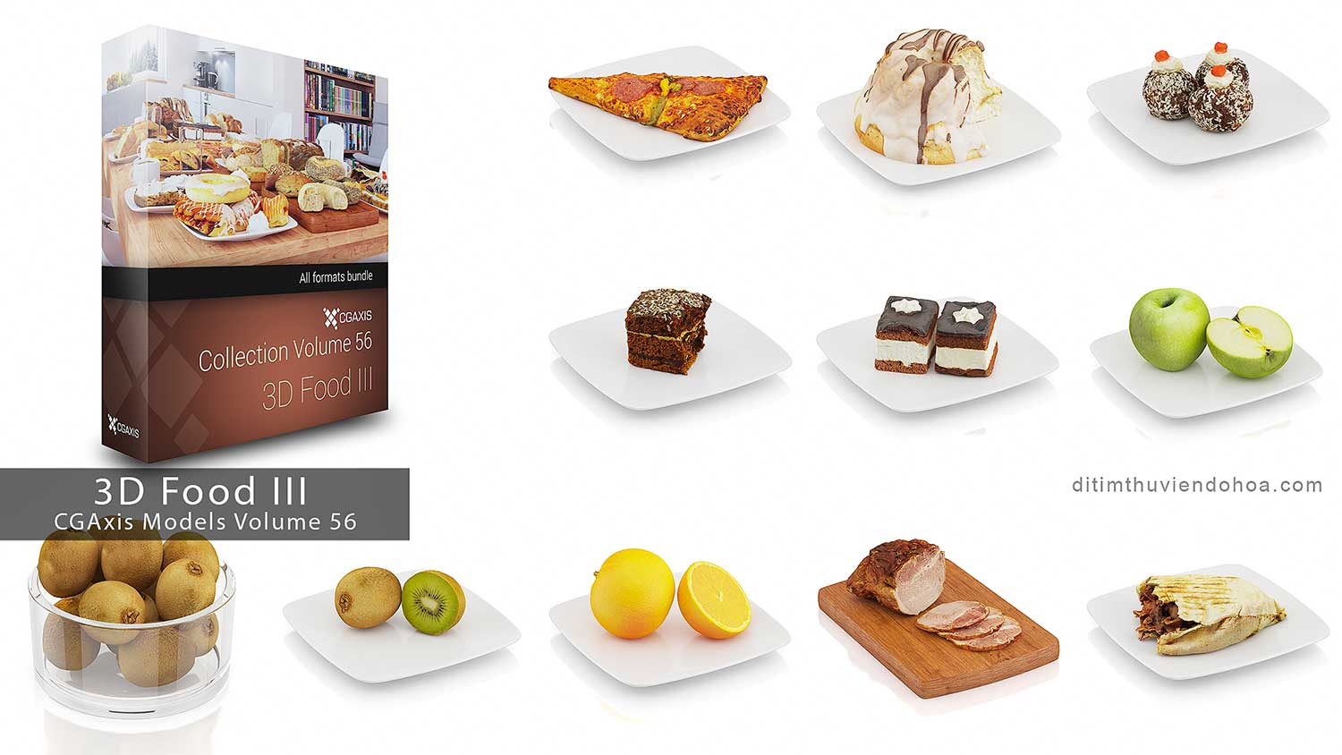 CGAxis Models Volume 56-3D Food III