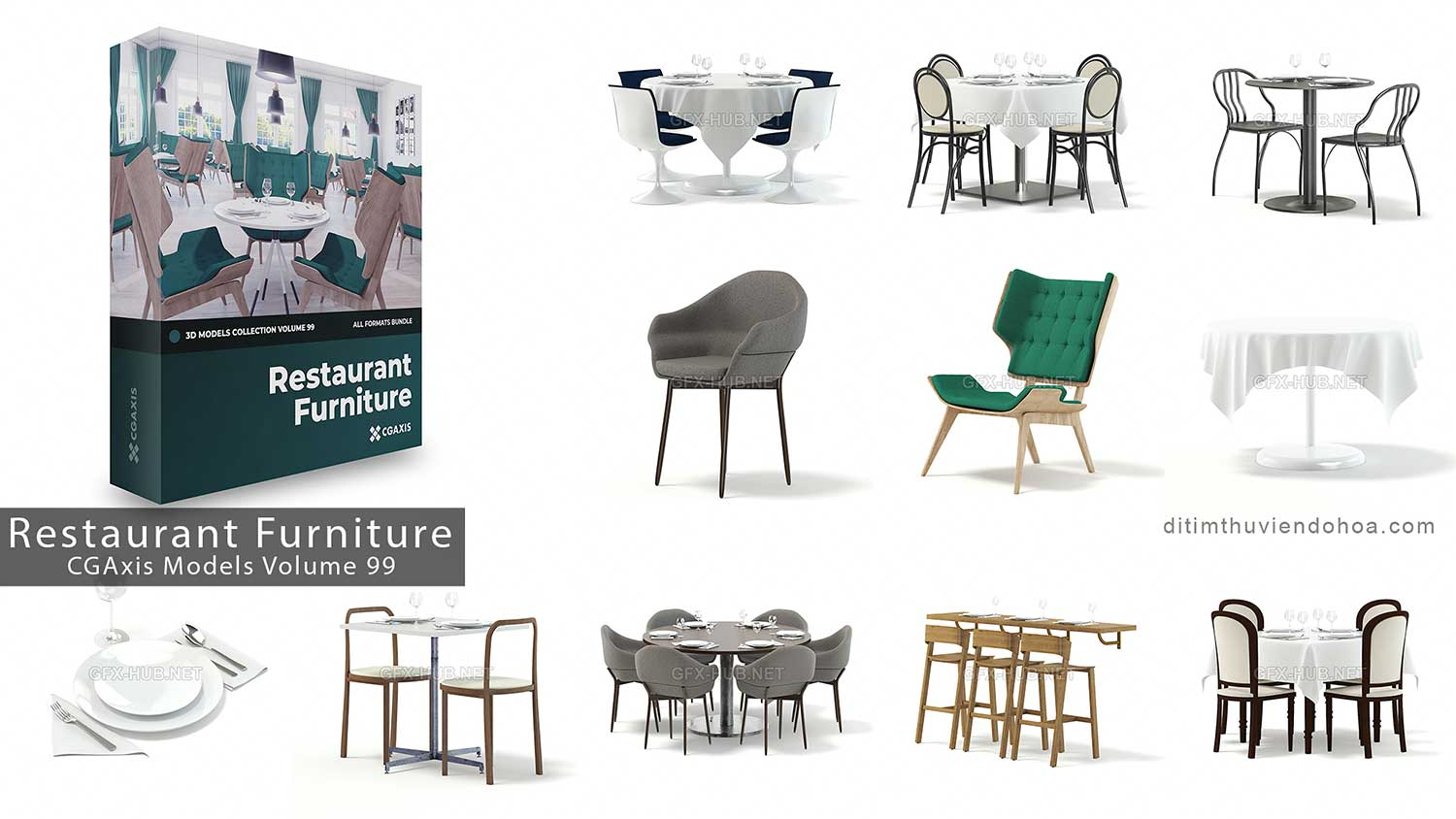 CGAxis Models Volume 99-Restaurant Furniture_Ditim