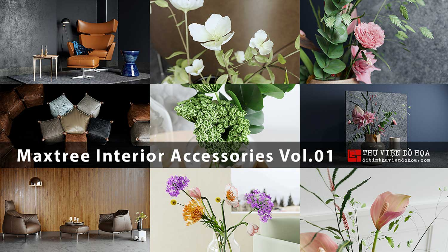 [ 3dsmax ] Maxtree Interior Accessories Vol.01