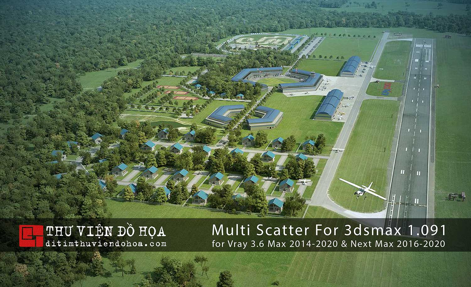 [ Plugins-3dsmax ] Multi Scatter For 3dsmax 1.091 for Vray 3.6 Max 2014-2020 & Next Max 2016-2020