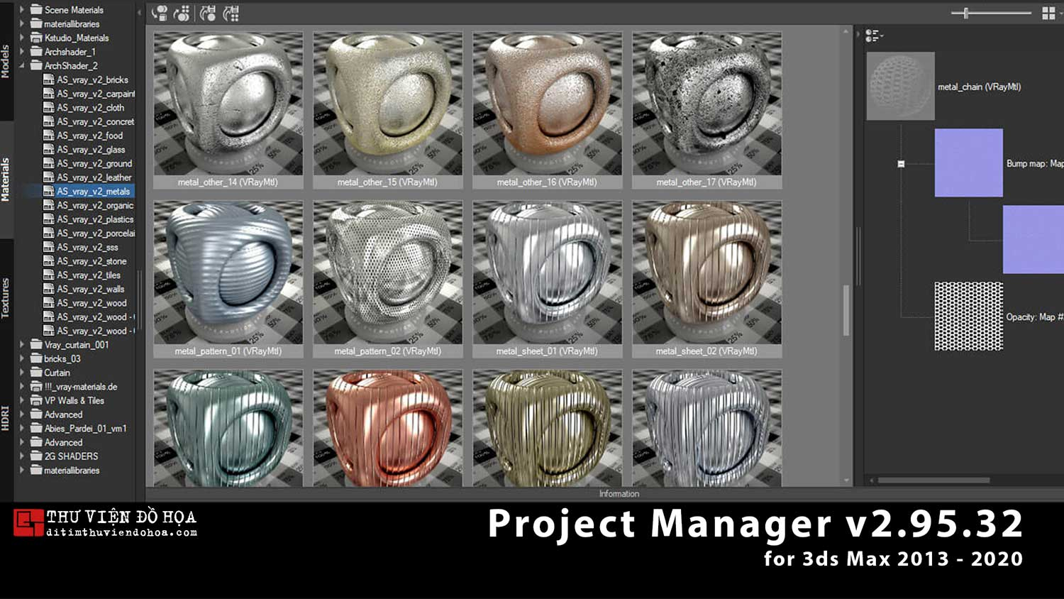 [ Plugins-3dsmax ] Project Manager v2.95.32 for 3ds Max 2013-2020