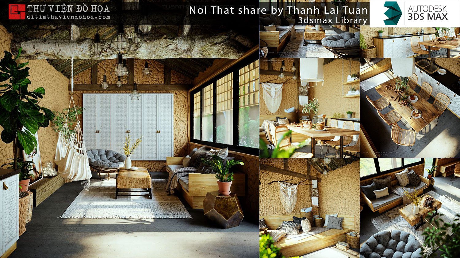 3dsmax Library - Noi That share by Thanh Lai Tuan