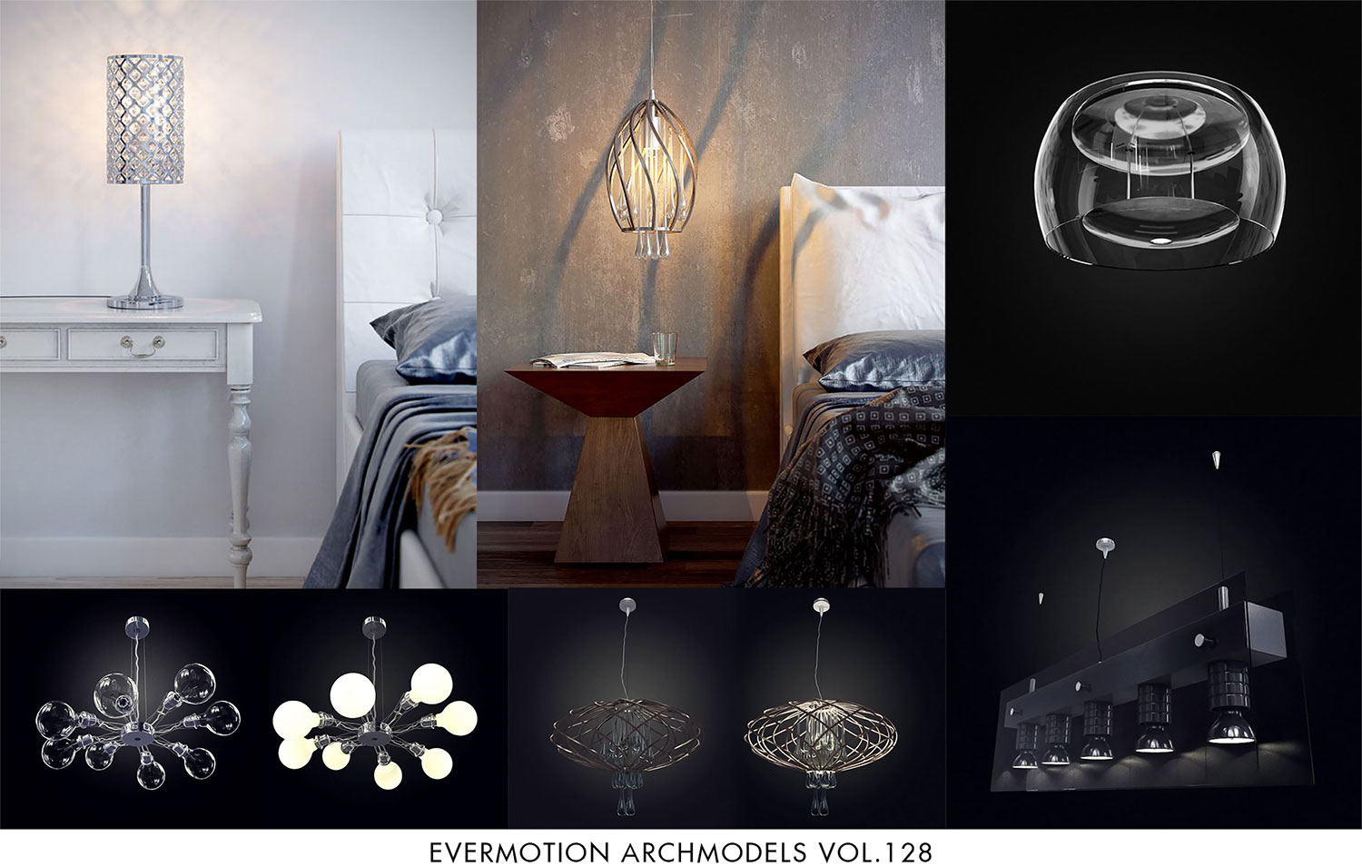 Evermotion Archmodels Vol 128 - Modern Interior Lamps