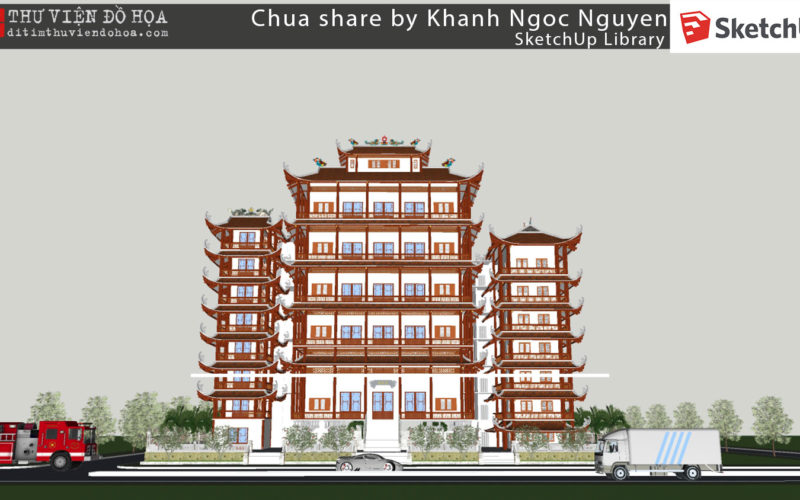 Sketchup Library – Chua share by Khanh Ngoc Nguyen